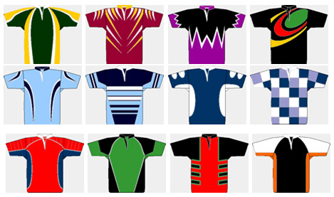 Sublimated rugby shirts - examples